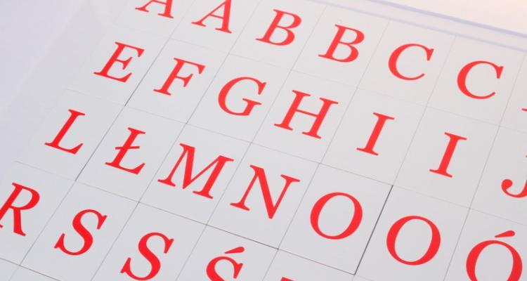 Komplet 45 literek magnetycznych znakomitych dla pierwszoklasistów.
