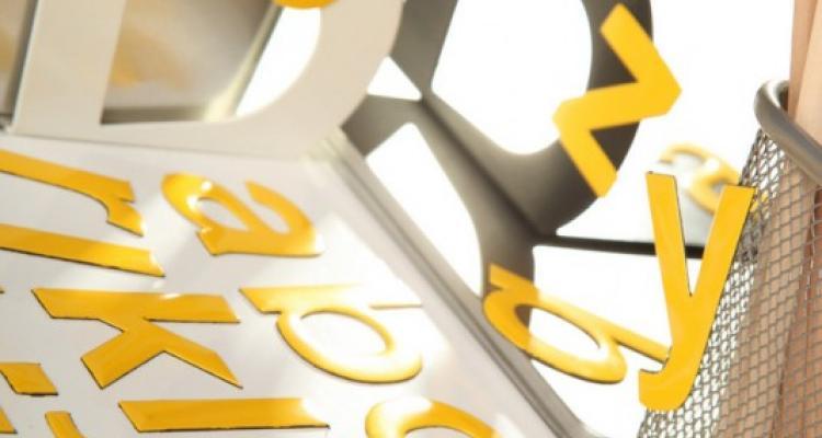 Żólty alfabet magnetyczny MagWords