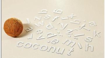 biały alfabet magnetyczny 5 cm literki