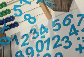 5 cm niebieskie cyfry magnetyczne MagWords